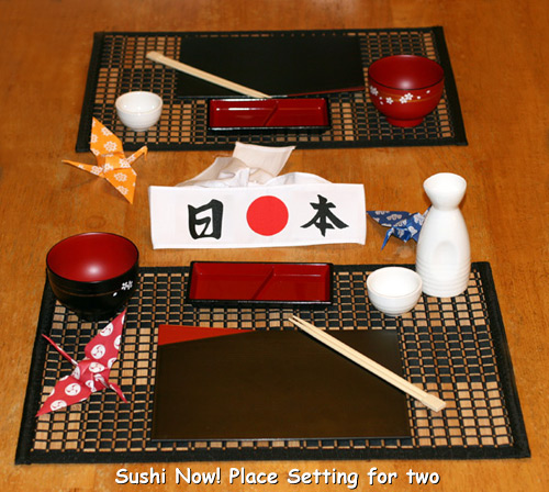 Deluxe Sushi Kit Wasabi Nori Rice Mat Paddle chopsticks Soy