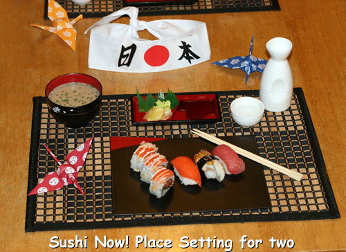 Sushi Place Setting Gift Box